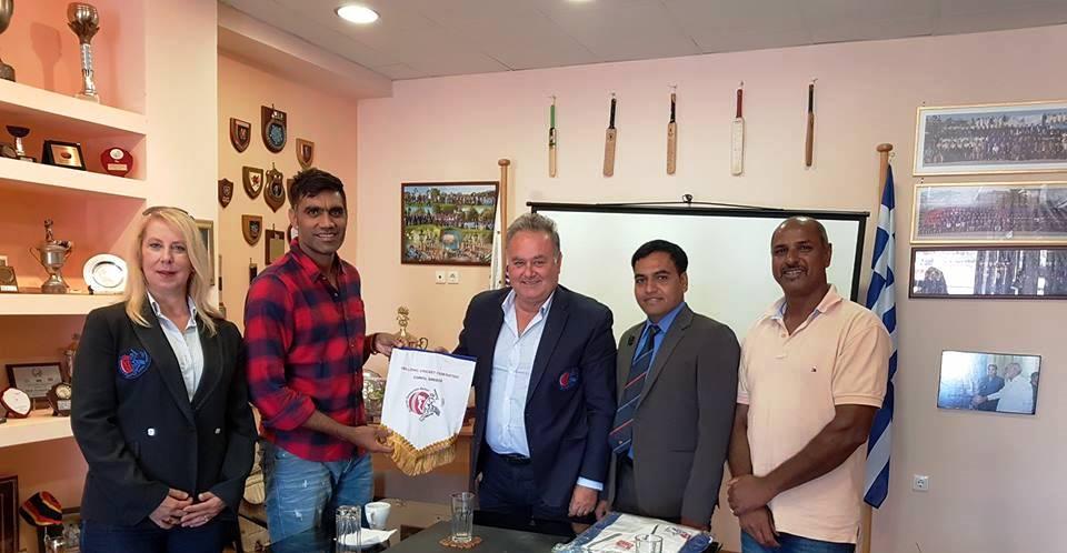 Επίσκεψη Του Munaf Patel Στην Κέρκυρα | Ελληνική Ομοσπονδία Κρίκετ