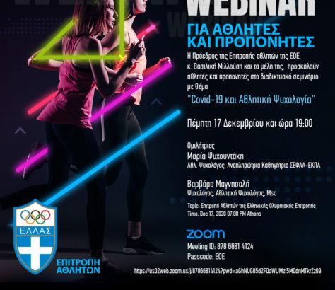 Webminar Επιτροπής Αθλητών   Ελληνική Ομοσπονδία Κρίκετ